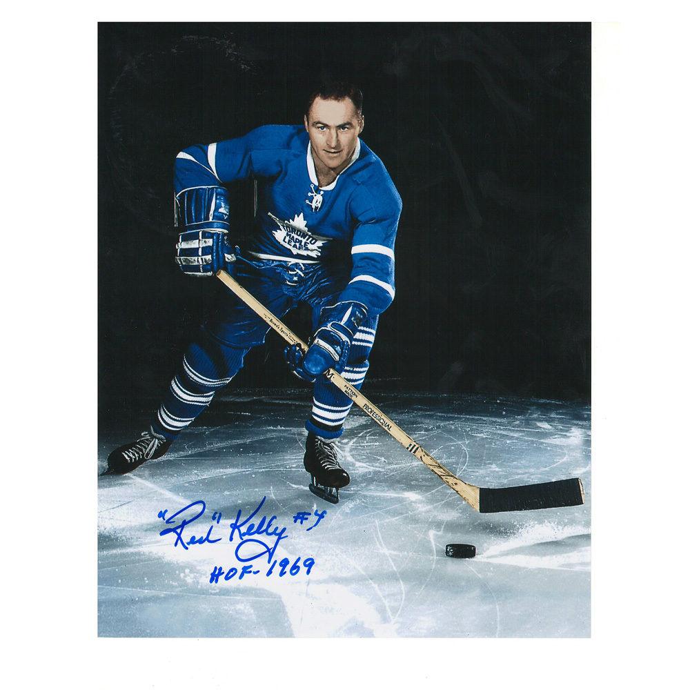 RED KELLY Signed Toronto Maple Leafs 8 X 10 Photo - 70345
