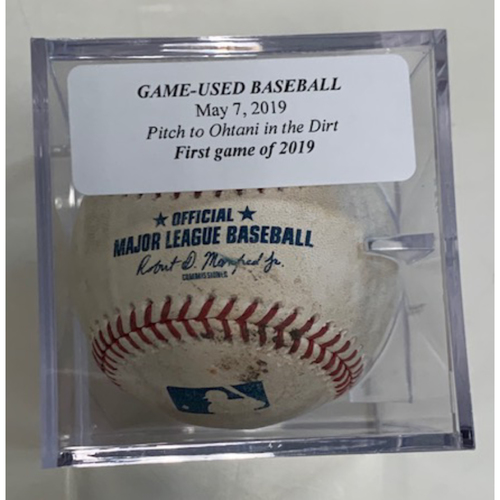Photo of Game-Used Baseball: Shohei Ohtani Pitched in Dirt