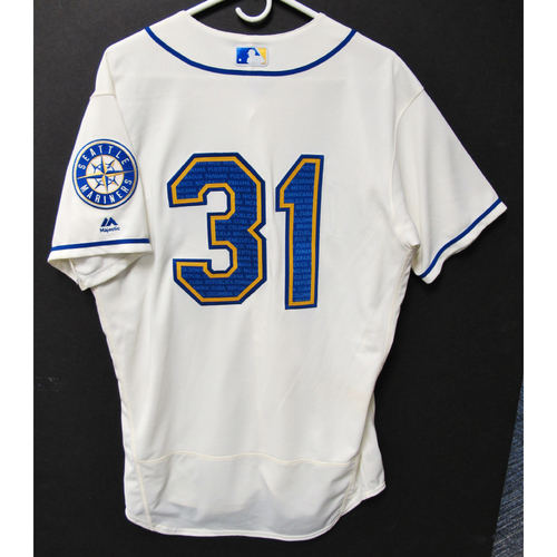 Photo of Seattle Mariners Donnie Walton Game-Used Marineros Jersey (Salute to Latin American) 9-15-2019