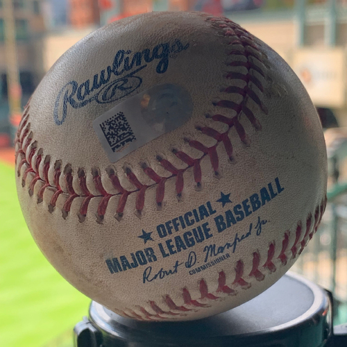 Photo of Game-Used Baseball Astros Vs. Mariners 9-5-19: Roberto Osuna to Mallex Smith (Strikeout)