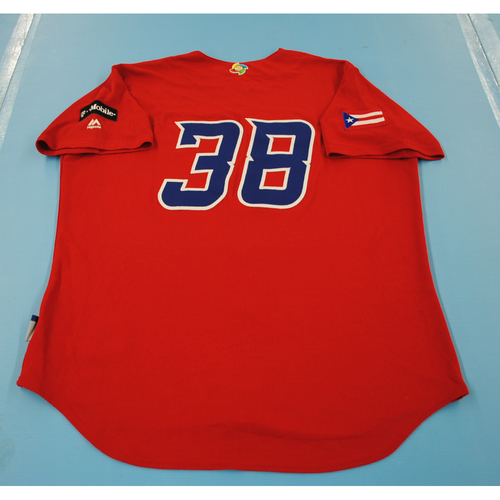 Photo of 2017 World Baseball Classic: Puerto Rico Batting Practice Jersey #38 - Joel Pineiro - Size L