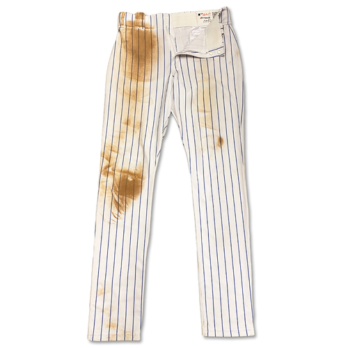 Photo of Jeff McNeil #6 - Game Used White Pinstripe Pants - 2-3, 2 1B - Mets vs. Padres - 7/23/19