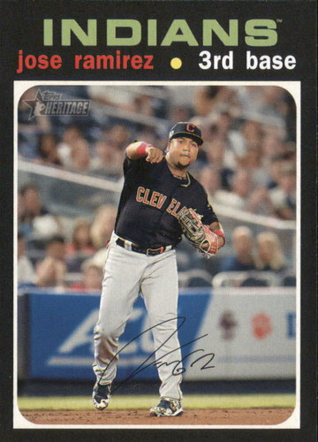 Photo of 2020 Topps Heritage #324 Jose Ramirez