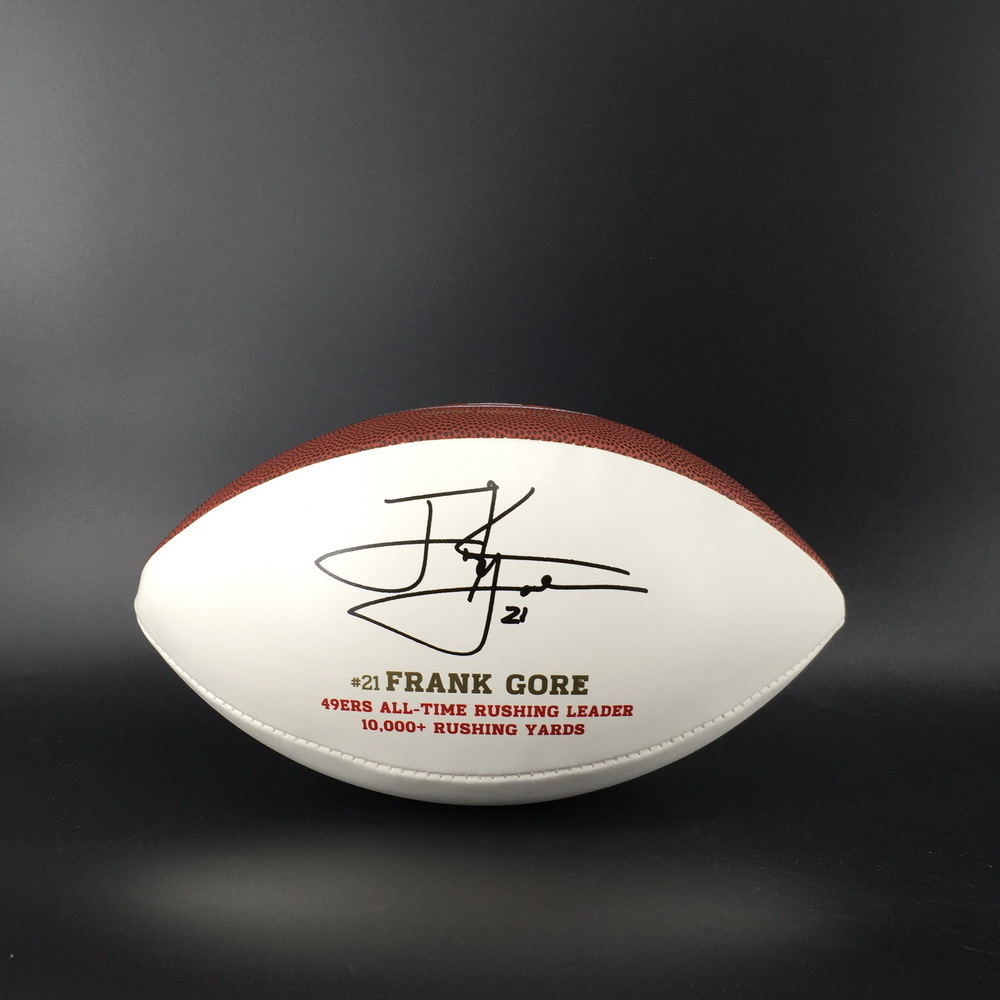 49ers - Frank Gore Laser Engraved Panel Ball with 49ers Logo