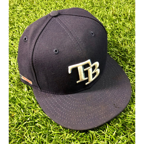 Photo of Game Used Opening Day Cap: Diego Castillo - March 28, 2019 v HOU