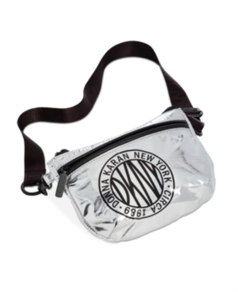 Photo of Dkny Metallic-Foil Logo Belt Bag
