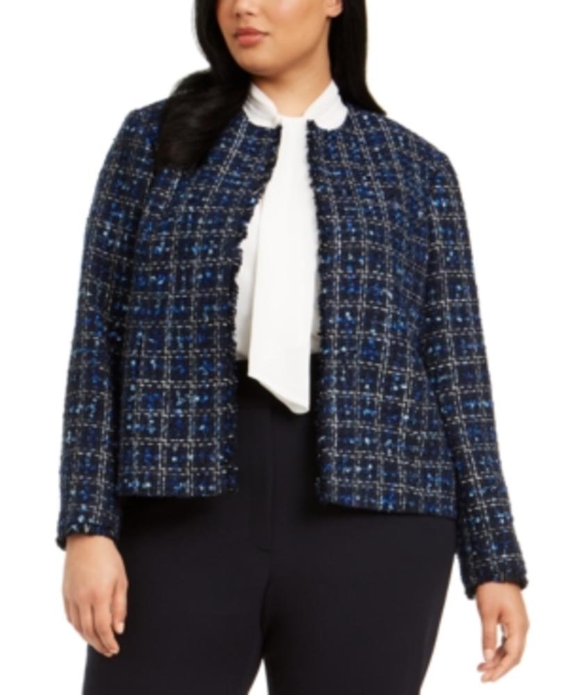Photo of Calvin Klein Plus Size Tweed Jacket