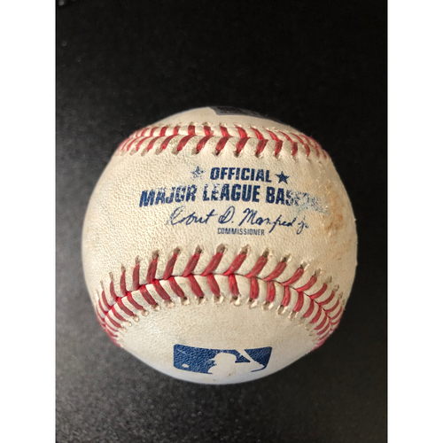 Photo of Game-Used Baseball - 2020 NLCS - Los Angeles Dodgers vs. Atlanta Braves - Game 4 - Pitcher: Brusdar Graterol, Batter: Dansby Swanson (2-RBI Double) - Bot 6