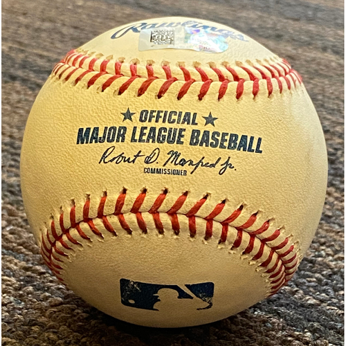 Photo of Game-Used Baseball - Baltimore Orioles at Boston Red Sox - Pitcher: Adam Ottavino, Batter: D.J. Stewart (Double) - April 10, 2021
