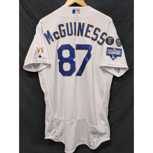 Photo of Connor McGuiness Team-Issued Gold Trim 2021 Opening Weekend Home Jersey