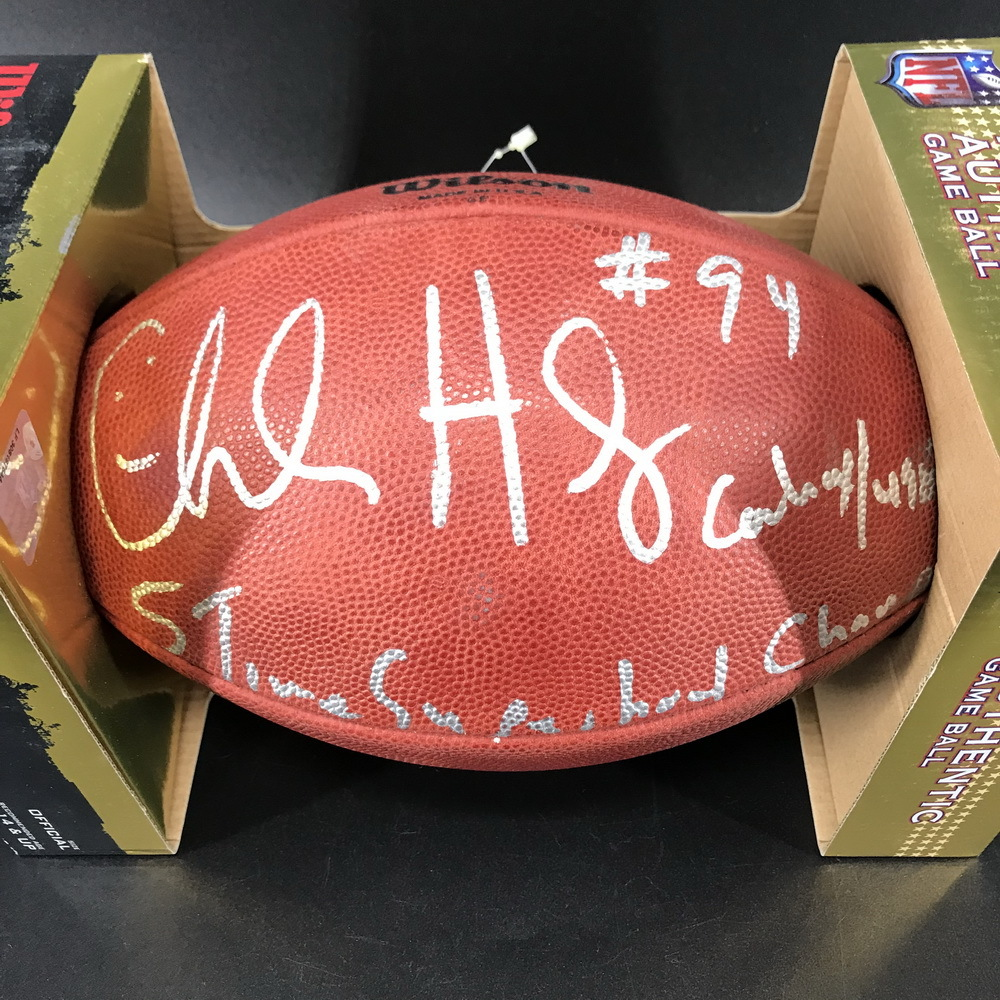 Legends - Cowboys Charles Haley Signed Authentic Football with