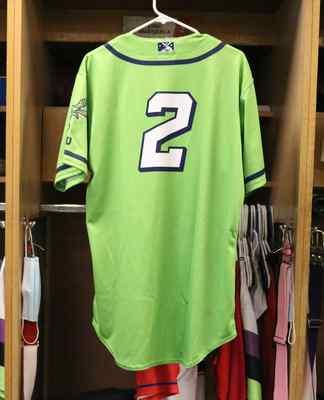 Stockton Ports Sahid Valenzuela Asparagus jersey, #2, Size 44