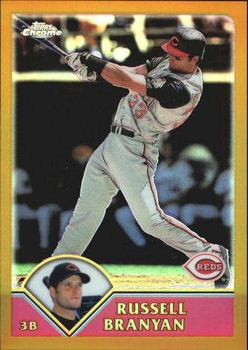 Photo of 2003 Topps Chrome Gold Refractors #408 Russell Branyan