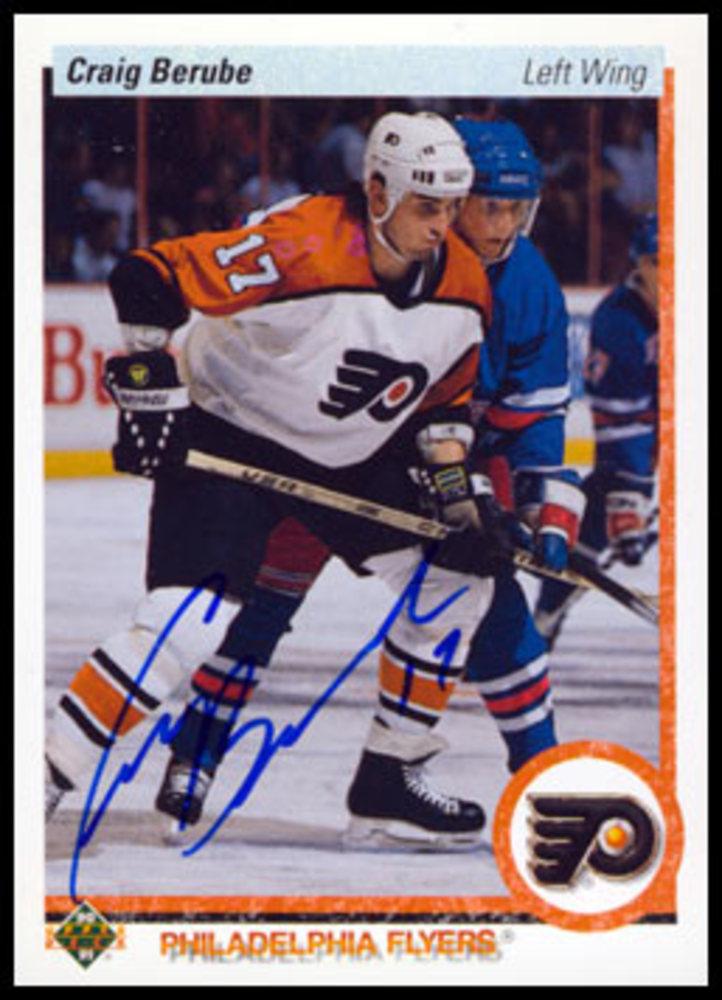Craig Berube Autographed 1990 Upper Deck Rookie Card - Philadelphia Flyers