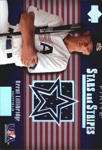 Photo of 2003 Upper Deck Finite Stars and Stripes Game Jersey #J18 Brent Lillibridge