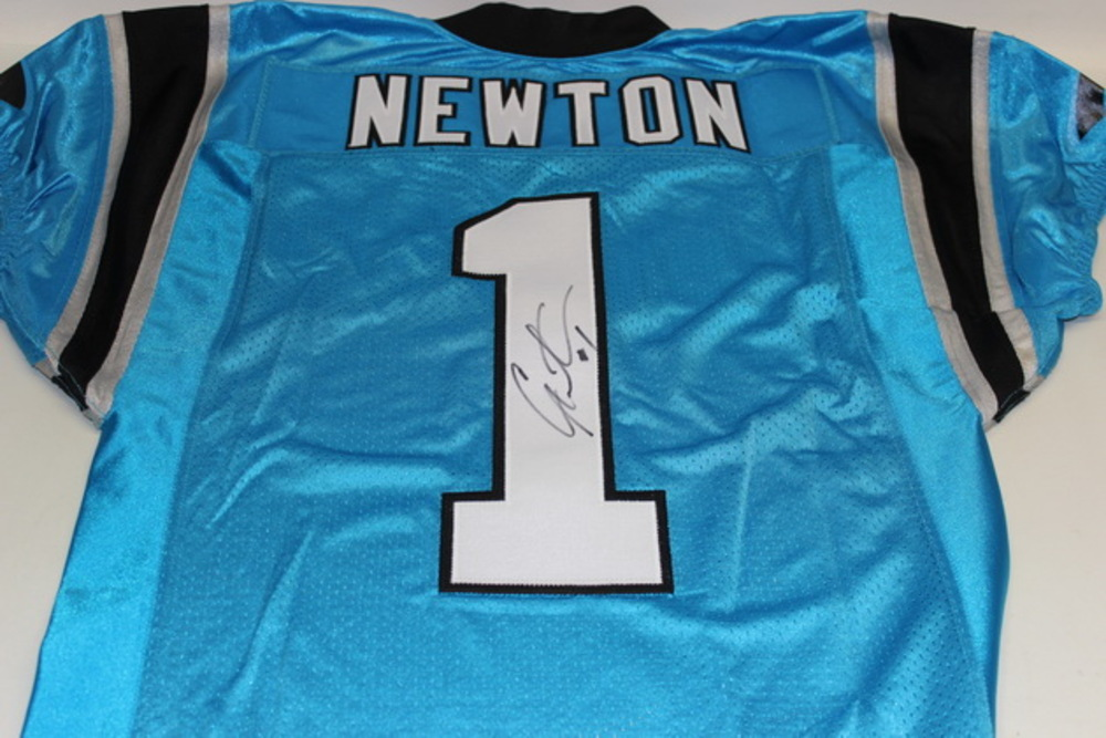 the best attitude 2d586 14a86 NFL Auction | PANTHERS - CAM NEWTON SIGNED AUTHENTIC ...