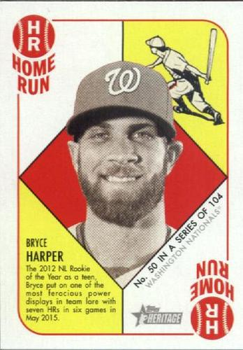 Photo of 2015 Topps Heritage '51 Collection #50 Bryce Harper -- Nationals post-season