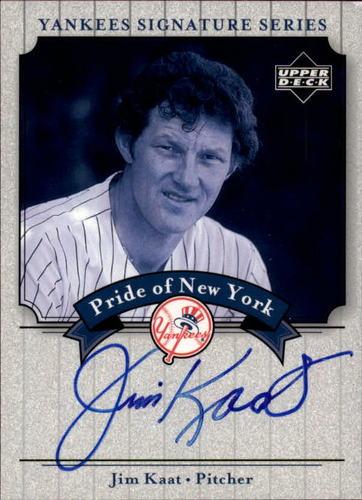 Photo of 2003 Upper Deck Yankees Signature Pride of New York Autographs  Jim Kaat