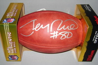 HOF - 49ERS JERRY RICE SIGNED AUTHENTIC FOOTBALL
