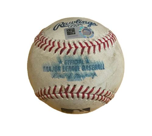 Game-Used Baseball from Pirates vs. Cubs on 9/6/17 - Cole to Baez, Single