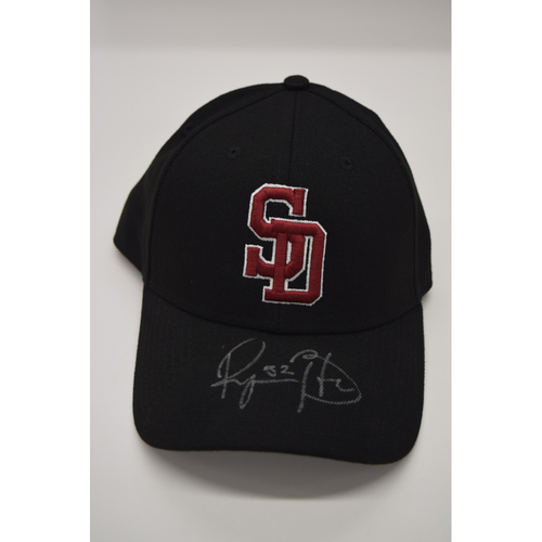 Photo of Ryan Buchter #52 - Signed & Game-Used Marjory Stoneman Douglas High School Hat - CHARITY AUCTION