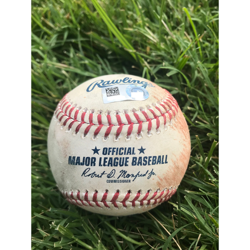 Photo of Cardinals Authentics: Game Used Baseball Pitched by Matt Harvey to Yadier Molina and Jedd Gyorko *Single RBI, Foul*