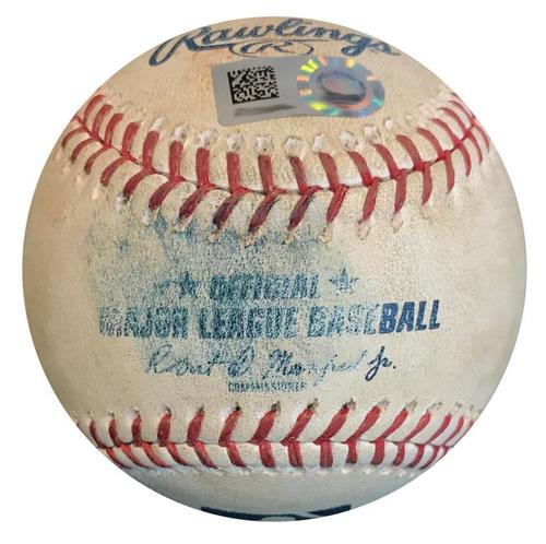 Photo of Game-Used Baseball from Pirates vs. Mets on 7/26/18 - Matz to Freese, Foul