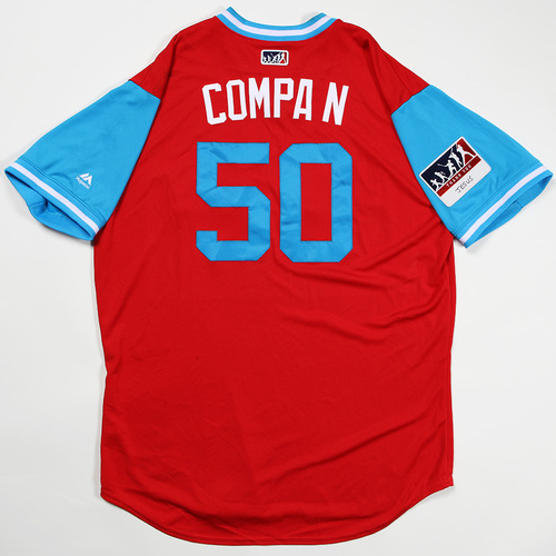 "Photo of Hector ""Compa N""  Neris Philadelphia Phillies Game-Used Jersey 2018 Players' Weekend Jersey"