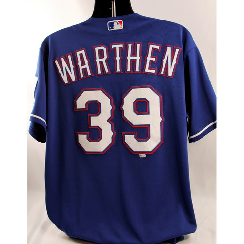 Photo of Game-Used Blue Jersey - Dan Warthen - 6/22/18