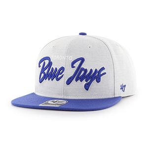 Toronto Blue Jays Street Script Captain Snapback Cap by '47 Brand