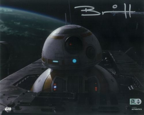 PREORDER Brian Herring As BB-8 8x10 Autographed in Silver Ink