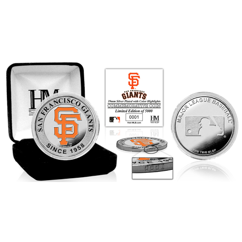 Serial #1! San Francisco Giants Silver Color Coin