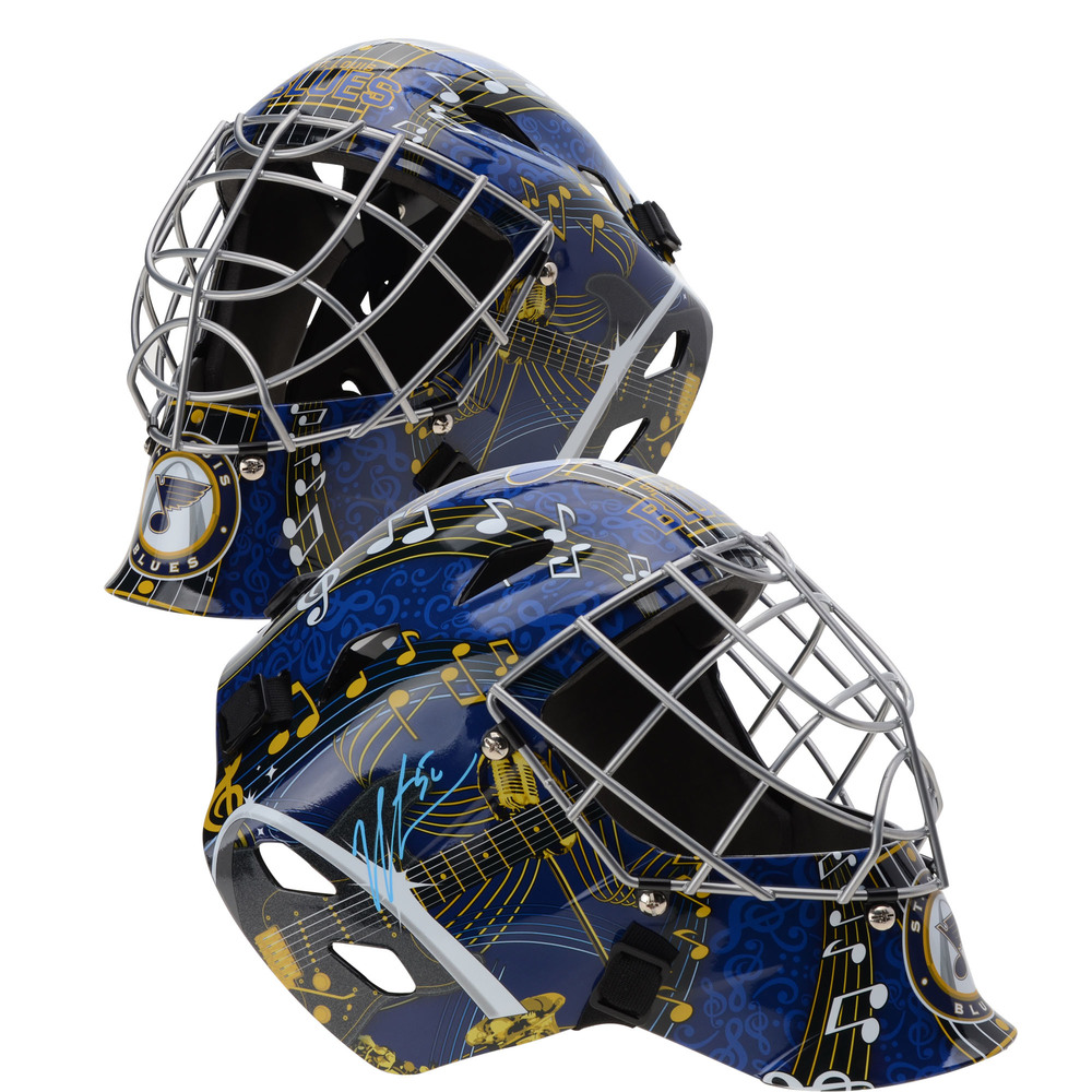 Jordan Binnington St. Louis Blues Autographed Replica Goalie Mask