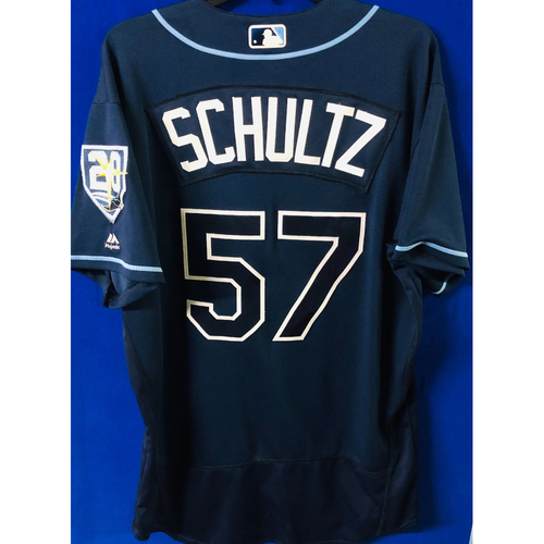 Photo of Game-Used Jersey: Jaime Schultz (size 46) - September 29, 2018 v TOR - FIRST MLB SEASON