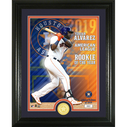 Photo of Serial #1! Yordan Alvarez 2019 AL Rookie of the Year Bronze Coin Photo Mint