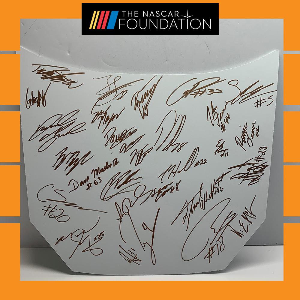 NASCAR's ARCA Menards Series Autographed hood!