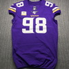 STS - Vikings Linval Joseph Signed Game Issued Jersey Size 46 with Captains Patch