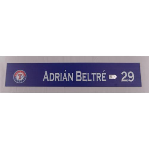 Photo of Team-Issued Locker Tag - Adrian Beltre