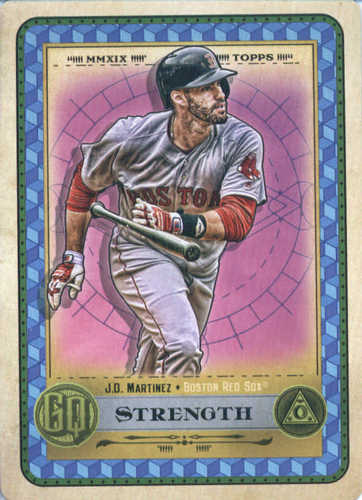 Photo of 2019 Topps Gypsy Queen Tarot of the Diamond #6 J.D. Martinez