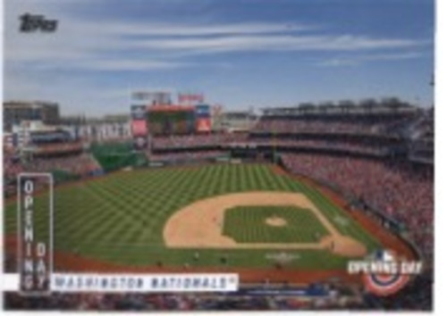 Photo of 2020 Topps Opening Day Opening Day #OD15 Washington Nationals