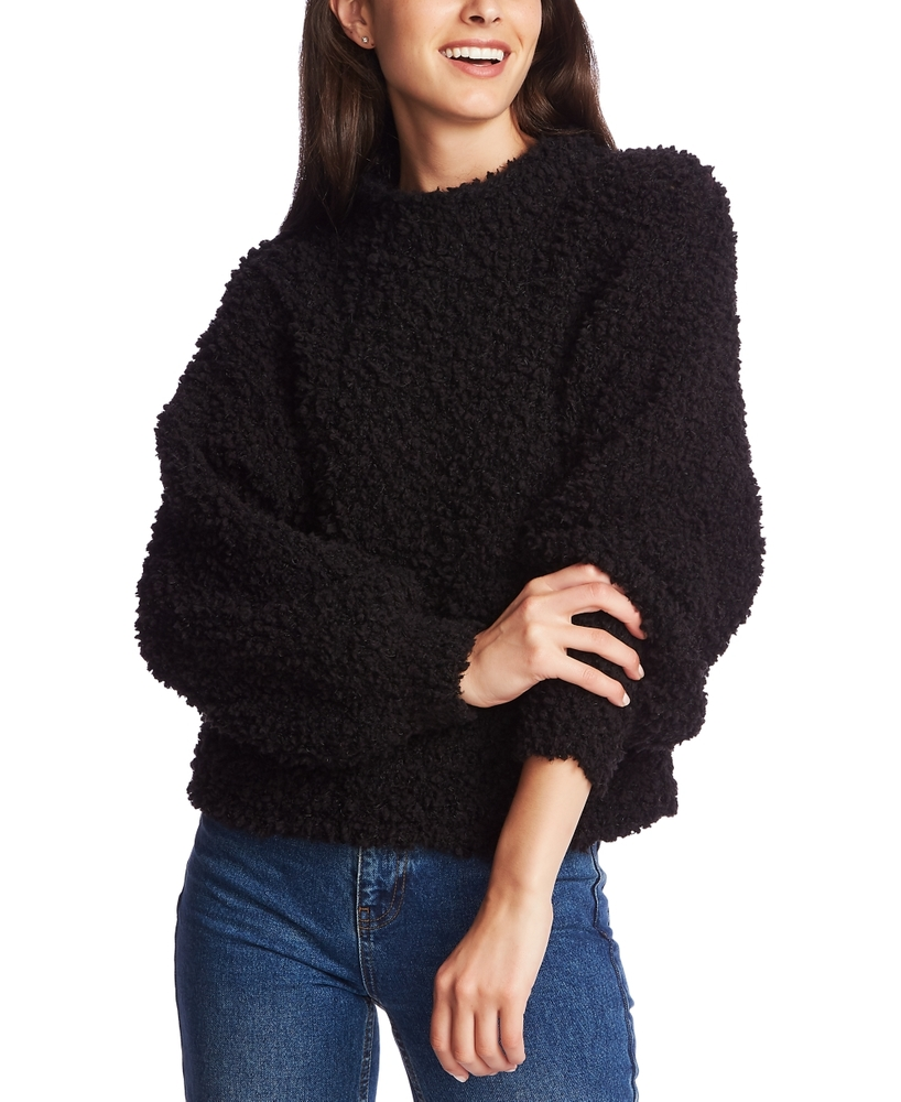 Photo of 1.state Mock-Neck Poodle-Textured Sweater