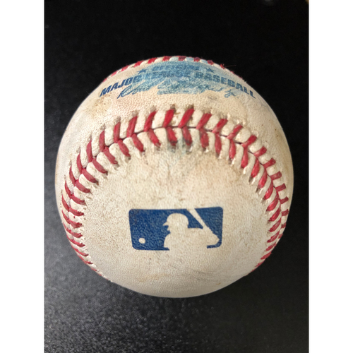 Game-Used Baseball - 2020 NLCS - Los Angeles Dodgers vs. Atlanta Braves - Game 4 - Pitcher: Victor Gonzalez, Batters: Cristian Pache (RBI Single), Ronald Acuna Jr. (Foul) - Bot 6