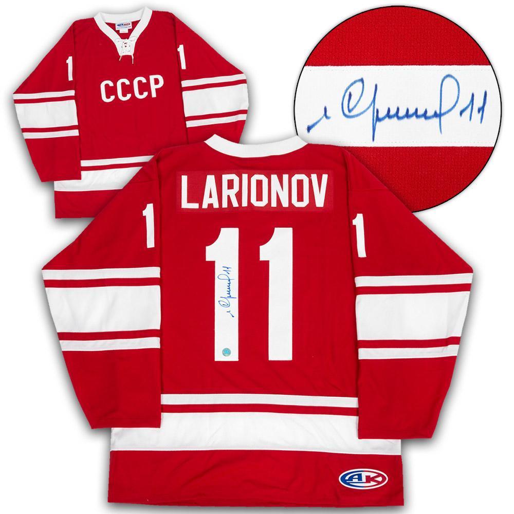 Igor Larionov Soviet Union Russia Autographed CCCP Hockey Jersey