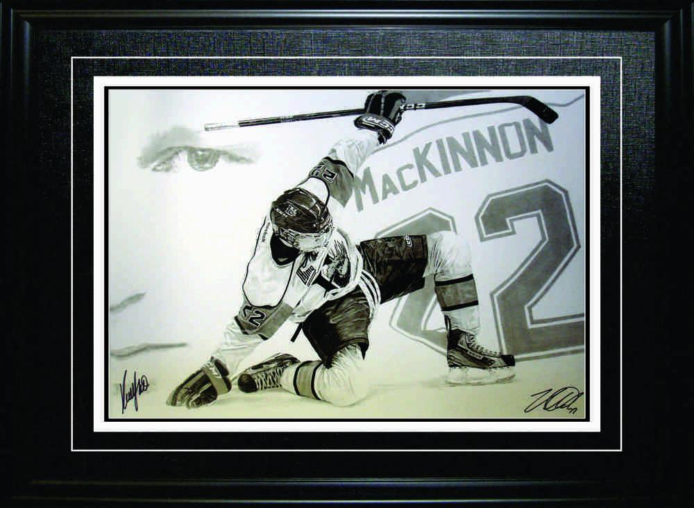 Nathan MacKinnon - Signed & Framed 20x29\