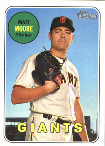 Photo of 2018 Topps Heritage #272 Matt Moore