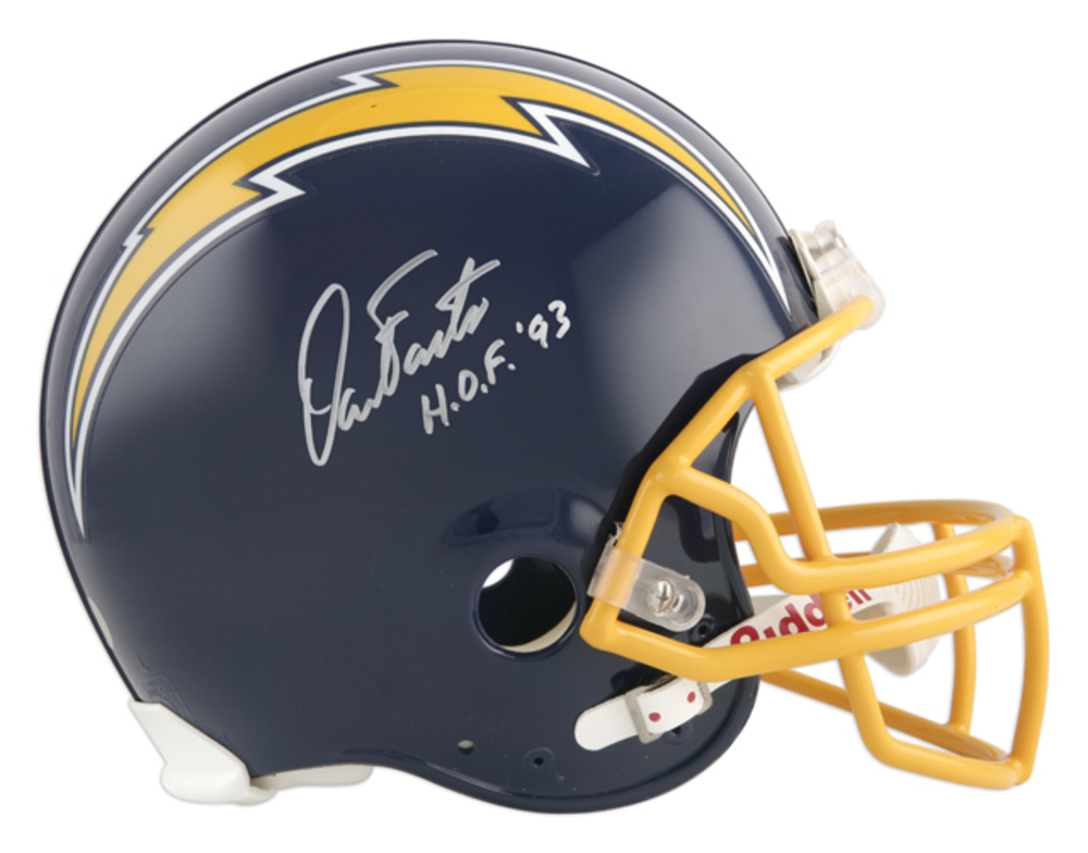 Dan Fouts San Diego Chargers Autographed Riddell Pro-Line Authentic Throwback Helmet with HOF 93 Inscription