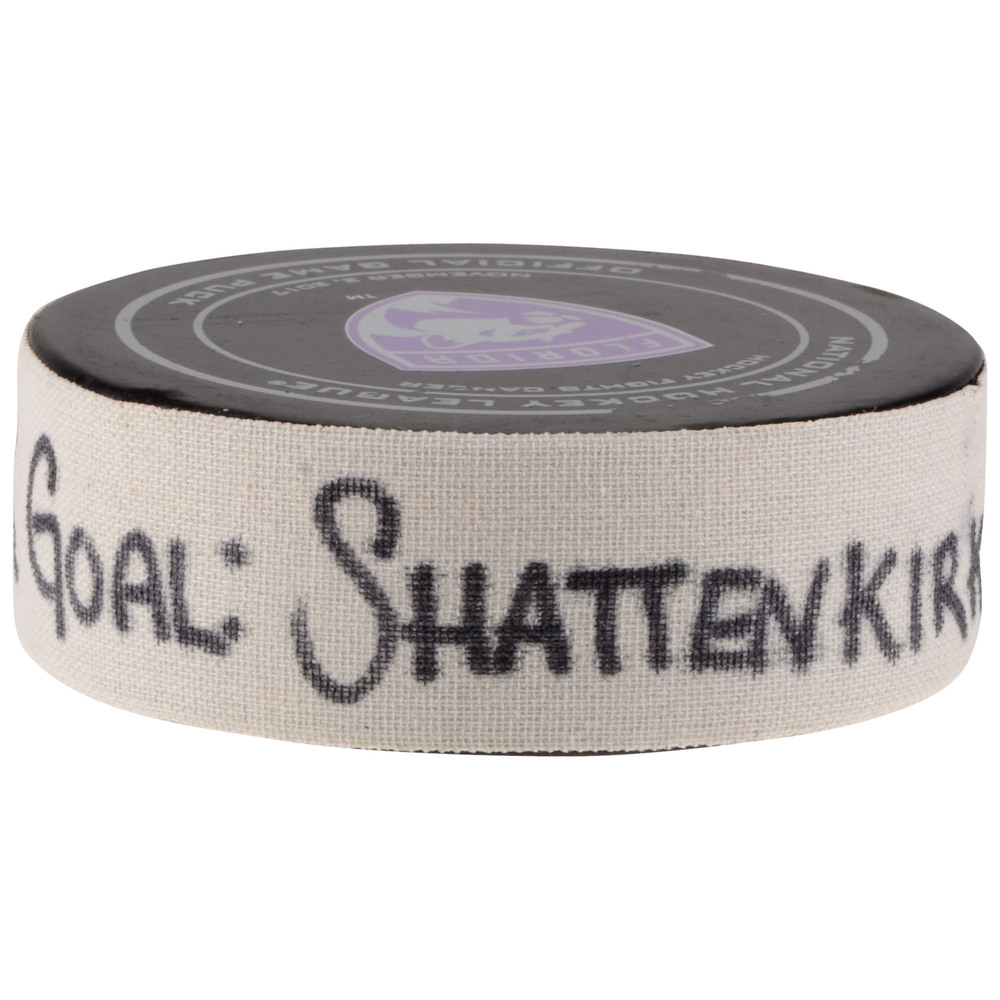 Kevin Shattenkirk New York Rangers Goal Scored Puck from November 4, 2017 vs. Florida Panthers - First Goal of Two Goals Scored