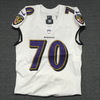 London Games - Ravens Tony Bergstrom game worn Ravens jersey (September 24, 2017) Size 44