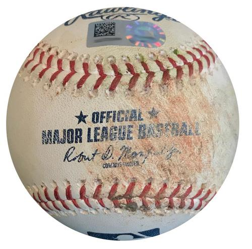 Photo of Game-Used Baseball from Pirates vs. Mets on 7/26/18 - Asdrubal Cabrera Double