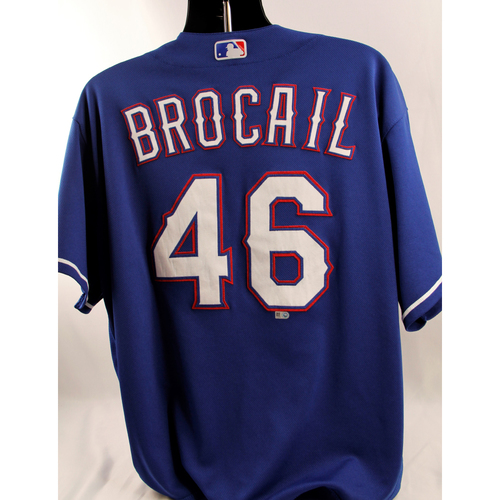 Photo of Game-Used Blue Jersey - Doug Brocail - 6/22/18